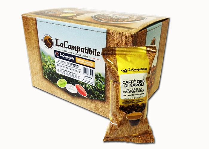 Oro di Napoli Compostabili (100 capsule compatibili con Nespresso)