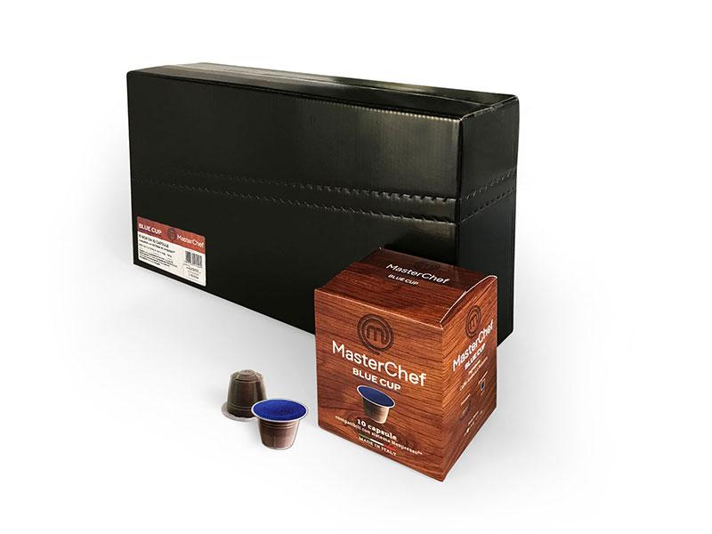 MasterChef Blue Cup (100 capsule compatibili con Nespresso)