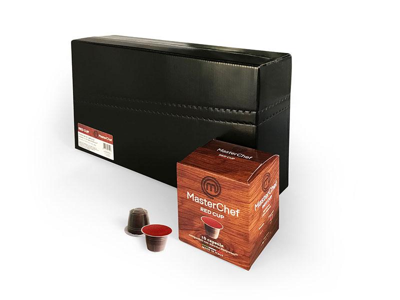 MasterChef Red Cup (100 capsule compatibili con Nespresso)